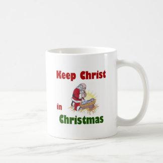 Mantenga a Cristo navidad Taza De Café