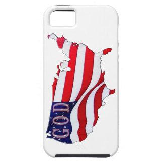 Mantenga a DIOS iPhone patriótico de la bandera am iPhone 5 Case-Mate Protector
