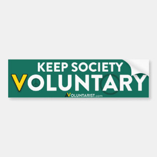 Mantenga a la sociedad voluntaria pegatina para auto