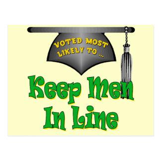 Mantenga a los hombres línea postales