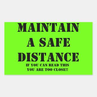 Mantenga a un pegatina de la distancia de segurida