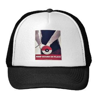 Mantenga al guardia en el lugar gorras
