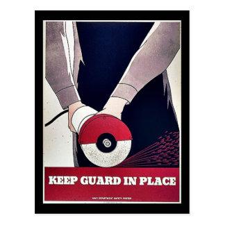 Mantenga al guardia en el lugar postales