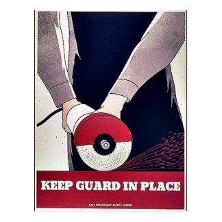 Mantenga al guardia en el lugar tarjeta postal