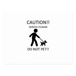 Mantenga al hombre humano con Dog.jpg Tarjetas Postales