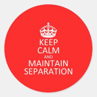 Mantenga al pegatina de la separación