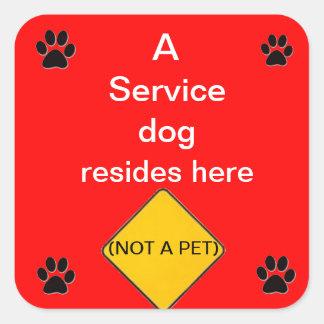 Mantenga al pegatina rojo de las vidas del perro