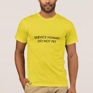 Mantenga al ser humano (el humor del mascota) playera