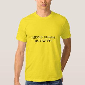 Mantenga al ser humano (el humor del mascota) remera