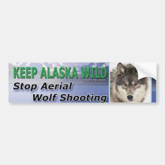Mantenga Alaska salvaje Pegatina Para Auto