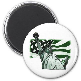 Mantenga América hermosa Imán Redondo 5 Cm
