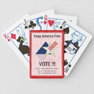Mantenga América libre - R (la cubierta de tarjeta Baraja