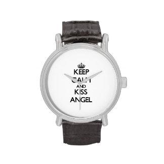 Mantenga ángel tranquilo y del beso relojes de mano