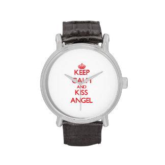 Mantenga ángel tranquilo y del beso relojes