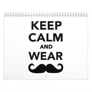 Mantenga bigote tranquilo y del desgaste calendario