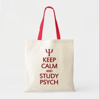 Mantenga bolso tranquilo y del estudio de Psych -  Bolsa Tela Barata