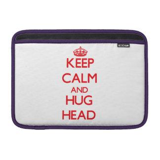 Mantenga cabeza tranquila y del abrazo fundas MacBook