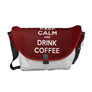 Mantenga café tranquilo y de la bebida bolsa de mensajeria