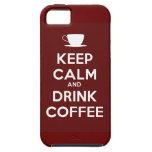 Mantenga café tranquilo y de la bebida iPhone 5 Case-Mate fundas
