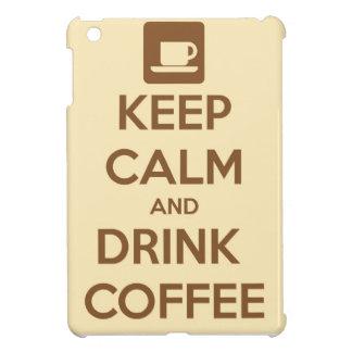 Mantenga café tranquilo y de la bebida iPad mini cárcasas