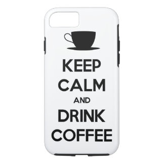 Mantenga café tranquilo y de la bebida funda iPhone 7