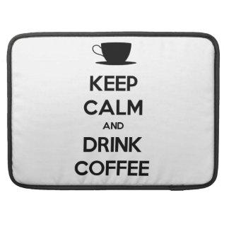 Mantenga café tranquilo y de la bebida fundas para macbook pro