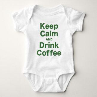 Mantenga café tranquilo y de la bebida mameluco de bebé