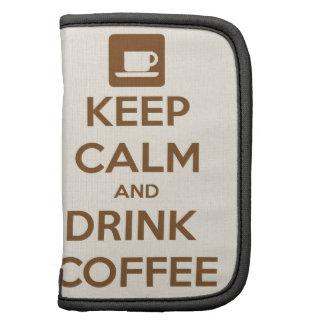 Mantenga café tranquilo y de la bebida organizadores