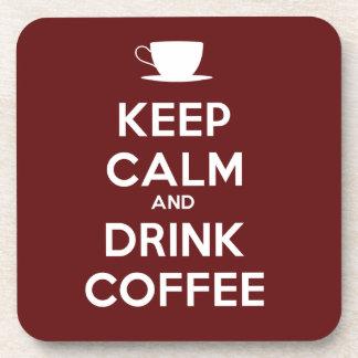 Mantenga café tranquilo y de la bebida posavasos