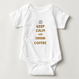 Mantenga café tranquilo y de la bebida remeras