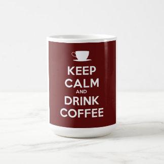 Mantenga café tranquilo y de la bebida taza de café