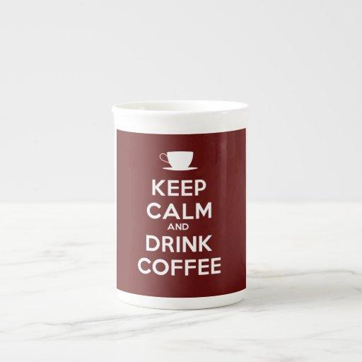 Mantenga café tranquilo y de la bebida taza de porcelana