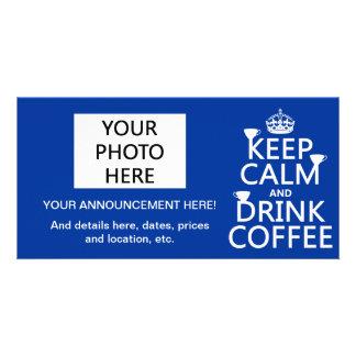 Mantenga café tranquilo y de la bebida - todos los tarjetas con fotos personalizadas