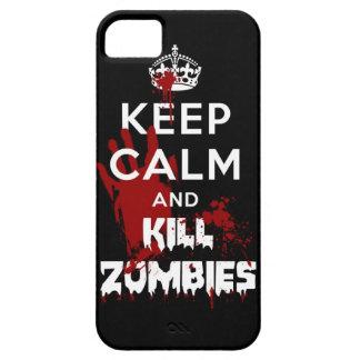 Mantenga caja negra tranquila y de la matanza de iPhone 5 carcasa