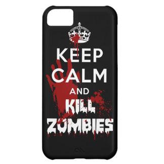 Mantenga caja negra tranquila y de la matanza de l funda para iPhone 5C