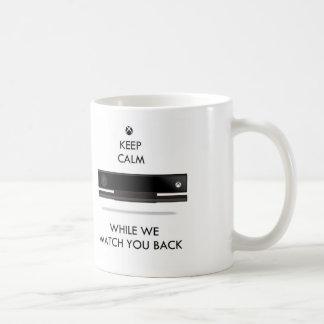 Mantenga caja tranquila y del reloj X Taza De Café