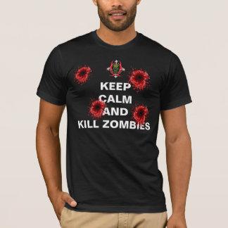Mantenga camiseta tranquila y de la matanza de los