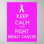 Mantenga cáncer tranquilo y de la lucha de pecho impresiones