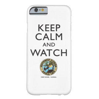 Mantenga caso elegante tranquilo y del reloj SWFEC Funda Barely There iPhone 6
