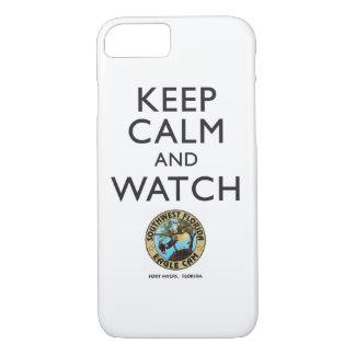 Mantenga caso elegante tranquilo y del reloj SWFEC Funda iPhone 7