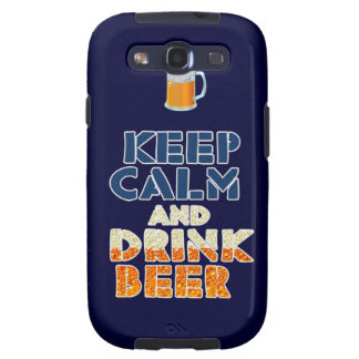 Mantenga caso tranquilo y de la bebida de la cerve galaxy s3 carcasas