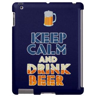 Mantenga caso tranquilo y de la bebida de la cerve