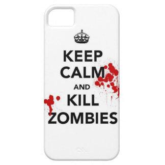 mantenga caso tranquilo y de la matanza de los zom iPhone 5 cárcasa