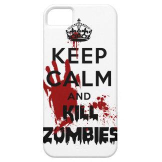 Mantenga caso tranquilo y de la matanza de los zom iPhone 5 Case-Mate funda