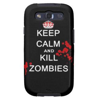 mantenga caso tranquilo y de la matanza de los zom samsung galaxy s3 fundas