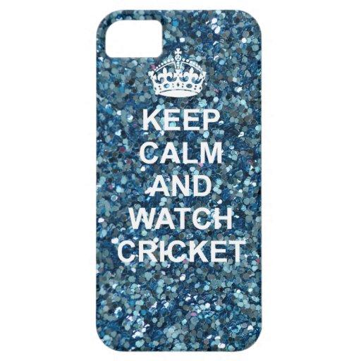 Mantenga caso tranquilo y del reloj del grillo del iPhone 5 Case-Mate fundas