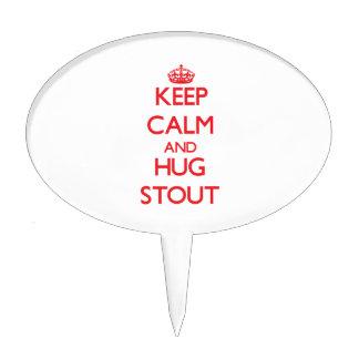 Mantenga cerveza de malta tranquila y del abrazo decoraciones de tartas