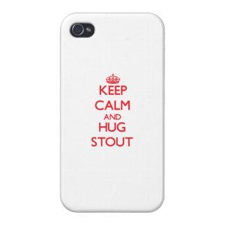 Mantenga cerveza de malta tranquila y del abrazo iPhone 4 cárcasa