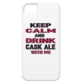 Mantenga cerveza inglesa tranquila y de la bebida iPhone 5 carcasa