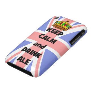 mantenga cerveza inglesa tranquila y de la bebida Case-Mate iPhone 3 protectores